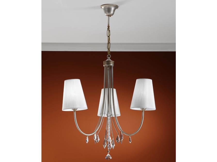 Alanis Pendant Lamp 3L silver nacre