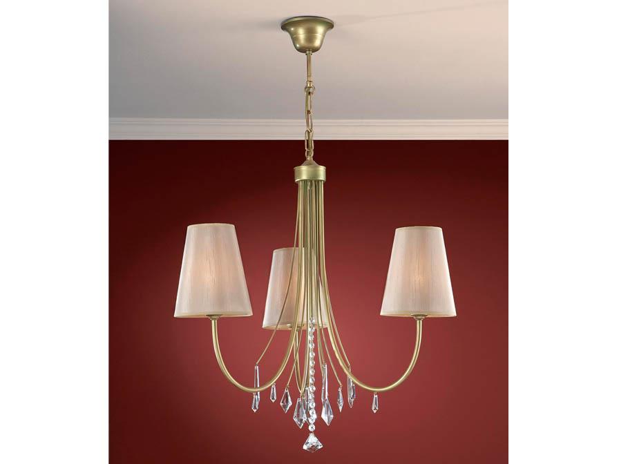 Alanis Pendant Lamp 3L Gold Polichromed