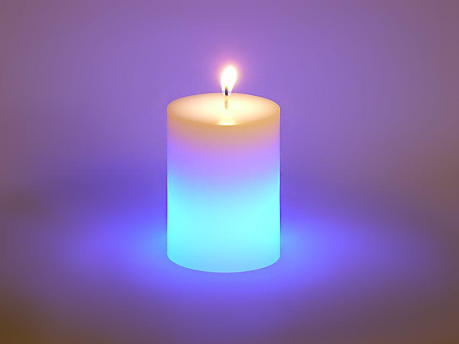 Vela LED Set 6 wax with llama Cilindrica Velas LED