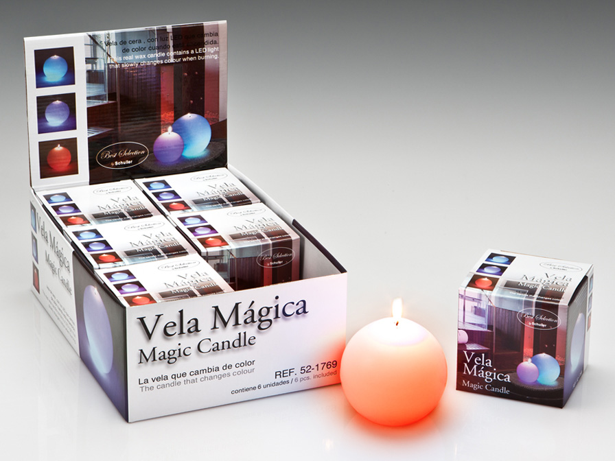 Vela LED Set 6 wax with Llama Velas LED