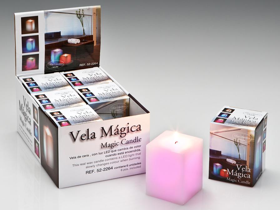 Vela LED Set 6 wax with Llama Square Velas LED