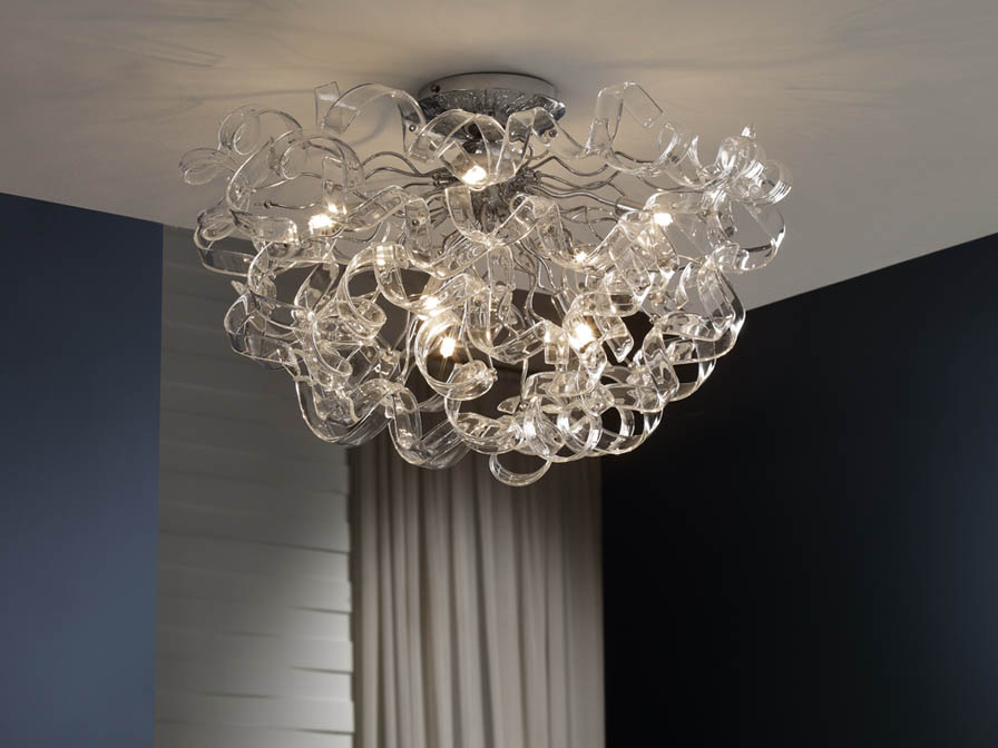 Nova Plafón 8xG9 LED 4W Cristal Transparente