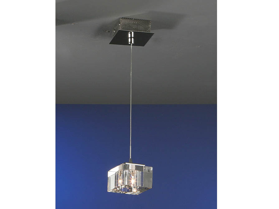 Cubic Pendant Lamp 1L bright chrome