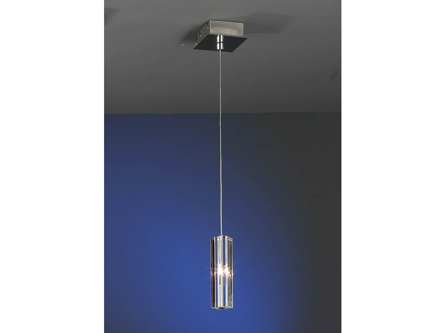 Cubic II Pendant Lamp 1L bright chrome