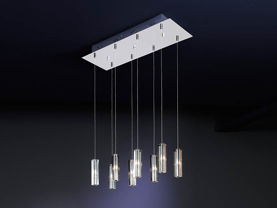 Cubic II Pendant Lamp 8L bright chrome