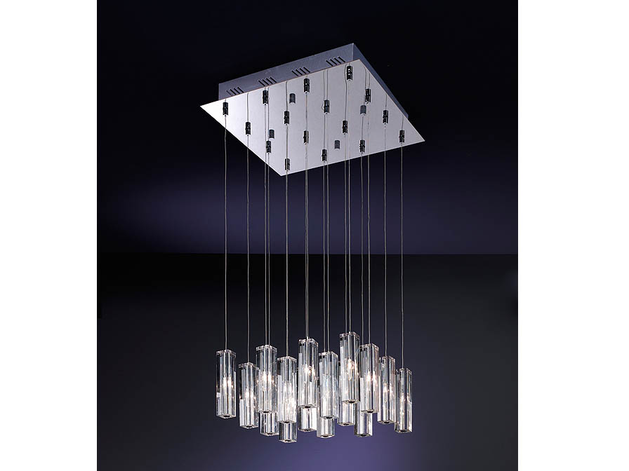 Cubic II Pendant Lamp 16L bright chrome