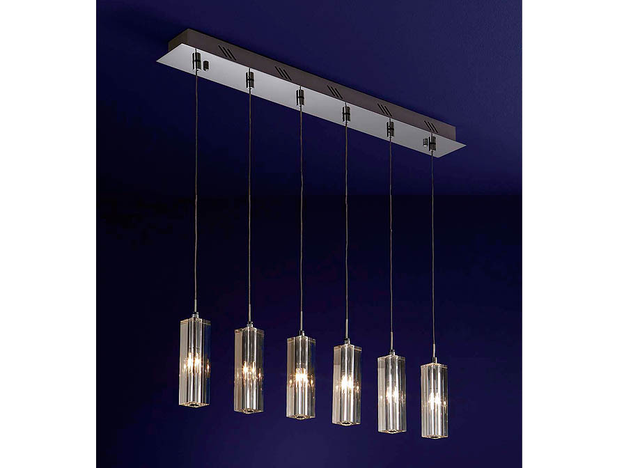 Cubic II Pendant Lamp 6L bright chrome