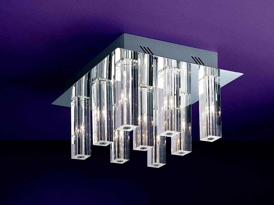 Cubic II ceiling lamp Square 9L Vromo Brillo