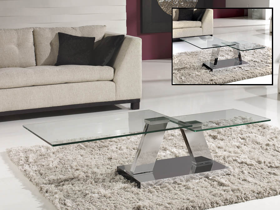 Corinto table Centro steel/Glass