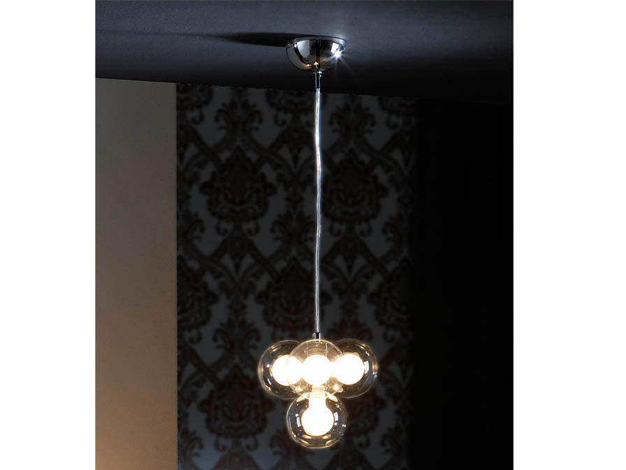 Nica Pendant Lamp 4L bright chrome