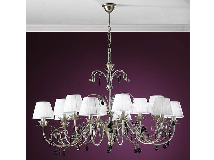 Dalia Pendant Lamp 12L Silver aged/ trinkets Black