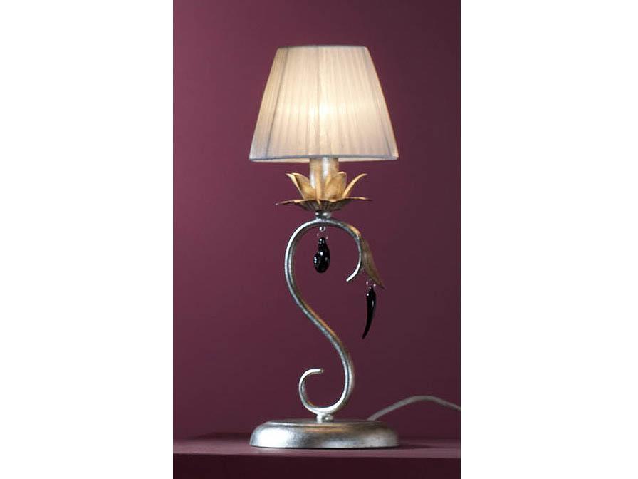Dalia Table Lamp 1L Silver aged/ trinkets Black