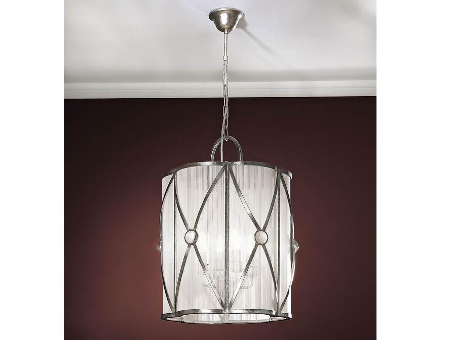 Esparta large Pendant Lamp 4L Silver aged