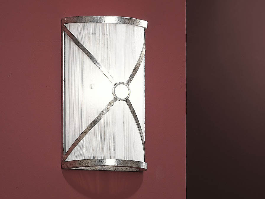 Esparta luz de parede E14 20W Prata envelhecido