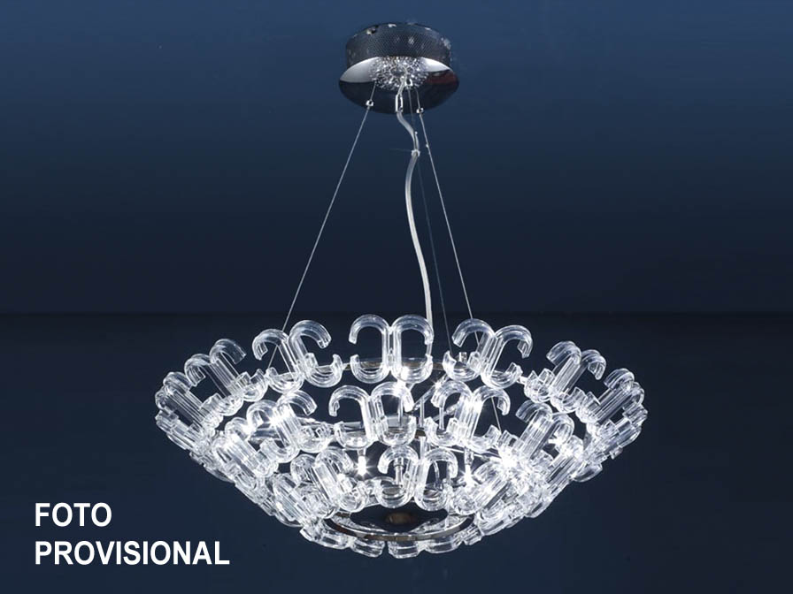Calima Pendant Lamp 9L bright chrome/Glass