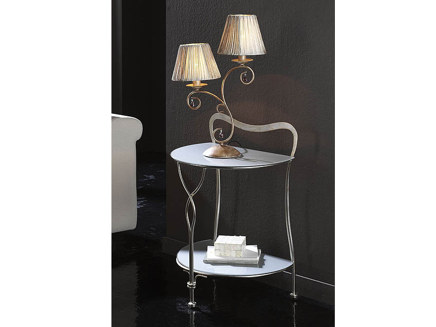 Venecia small table auxiliaryy Silver aged