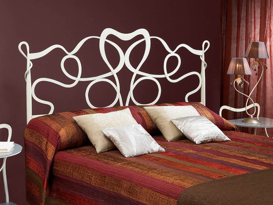 Venecia bed of headboard 150cm white Patina