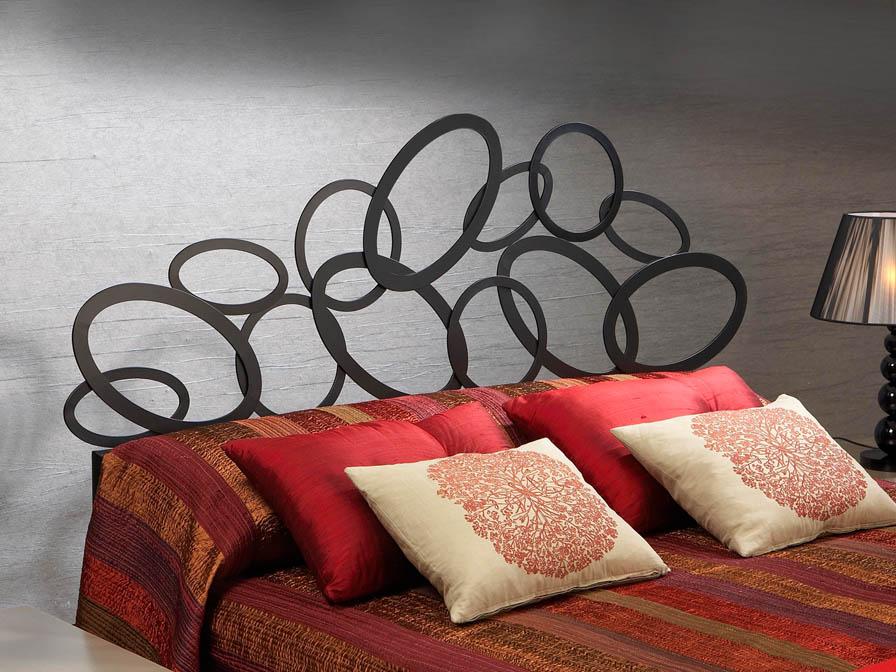 ovalos bed of headboard Black 150cm