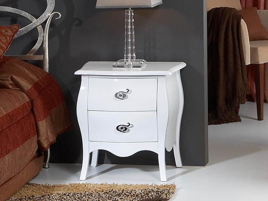 Venecia nightstand drawer white Lacado