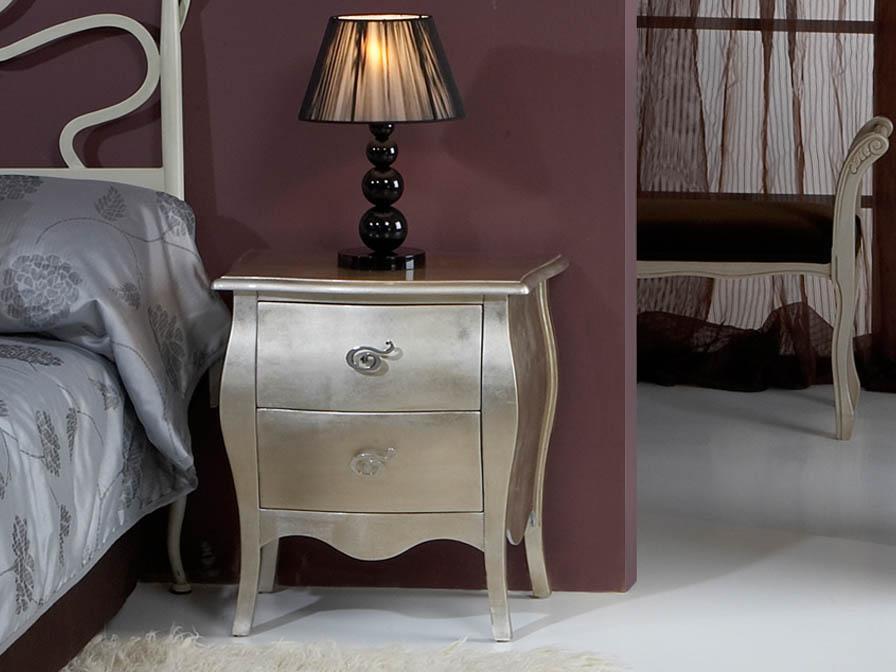 Venecia nightstand drawer Silver Leaf
