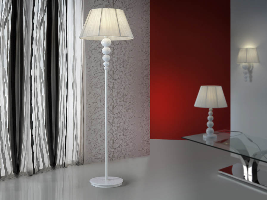 Mercury lámpara of Floor Lamp 1L white