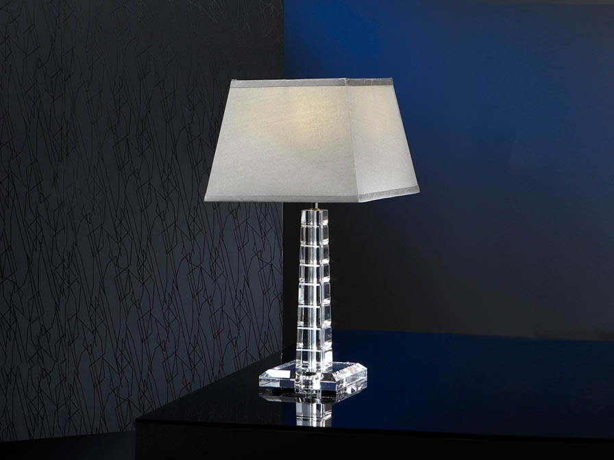 Corinto Table Lamp Small Black/Transparent