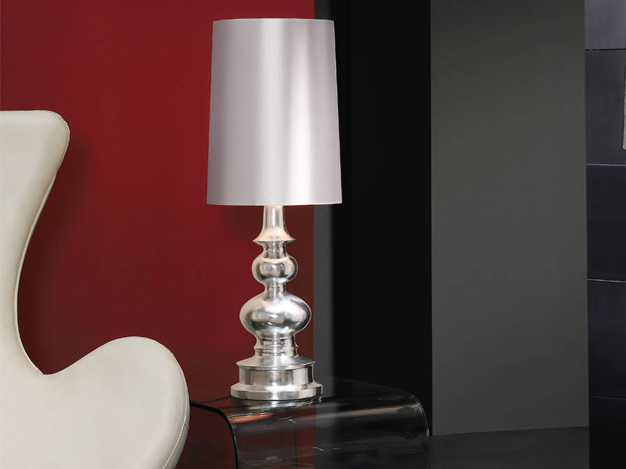 Babylon Lampe de table E27 60W Argent