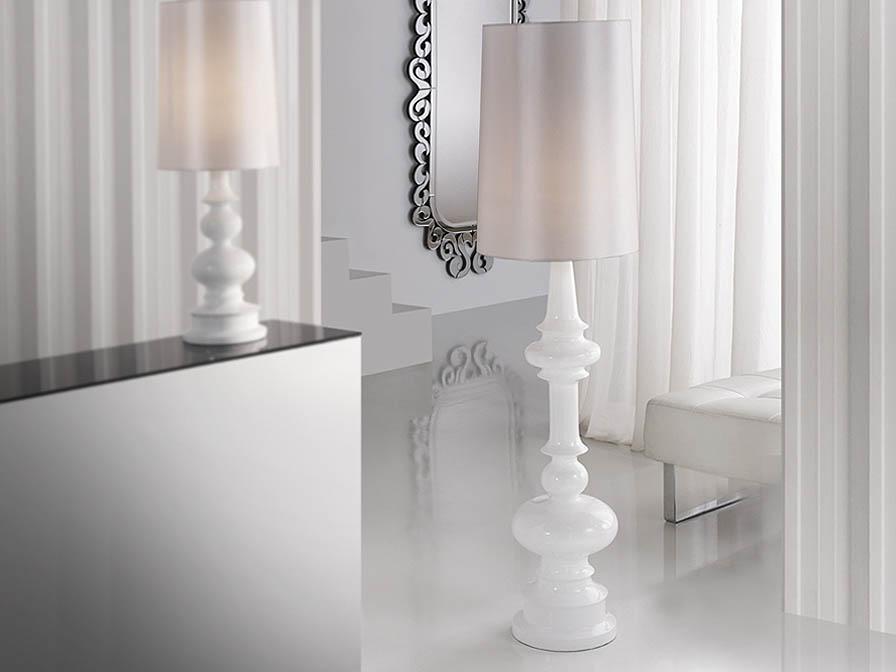 Babylon lámpara de Pie 1L blanco