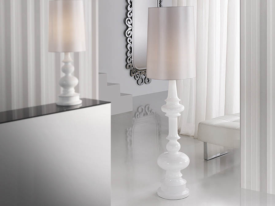 Babylon lámpara of Floor Lamp 1L white