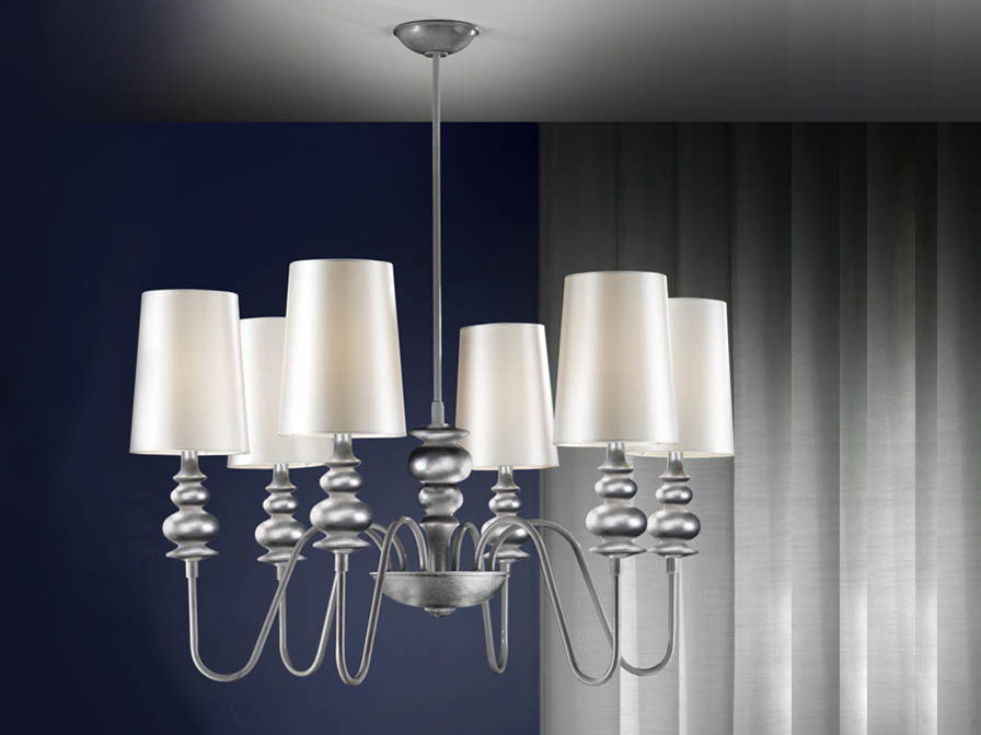 Babylon Pendant Lamp 6L Silver