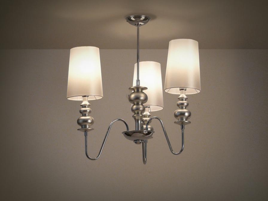 Babylon Pendant Lamp 3L bright chrome