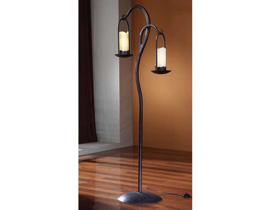 Candela lámpara of Floor Lamp 2L Brown Oxide