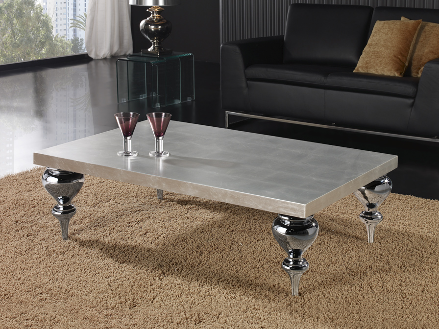 Sophia table rectangulaire Argent