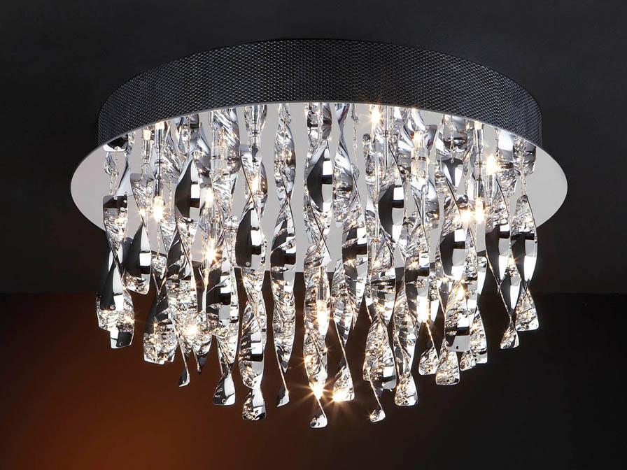 Espiral ceiling lamp Round 20L bright chrome