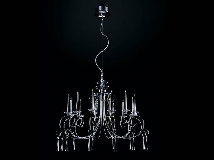 Silvana Pendant Lamp 12L bright chrome