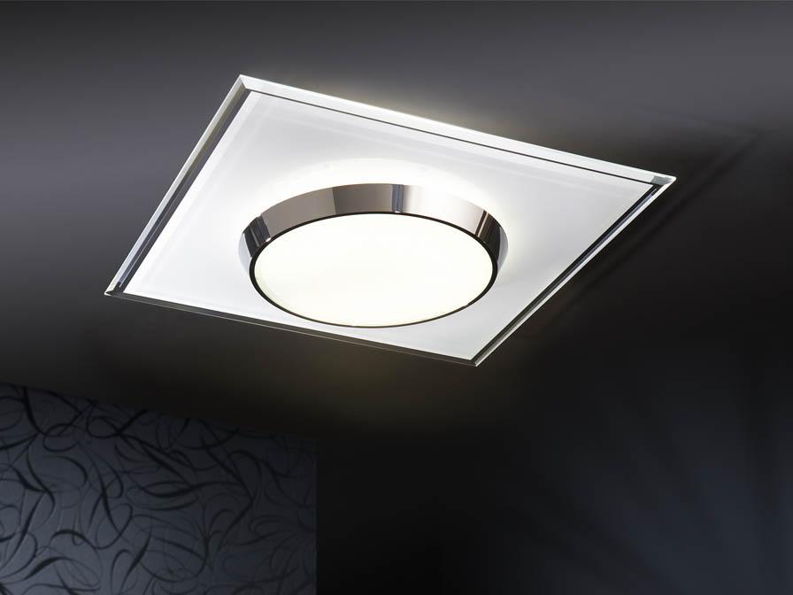 Dune ceiling lamp Square white/Chrome