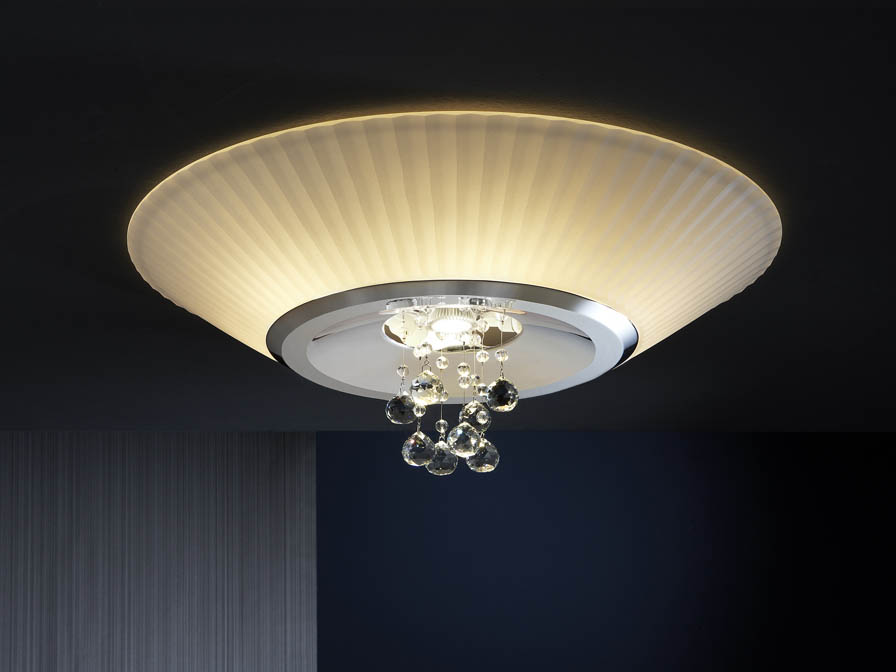 Andros deckeleuchte 6 E14 LED 4W + 1 GU10 LED 7Wglanzverchromt
