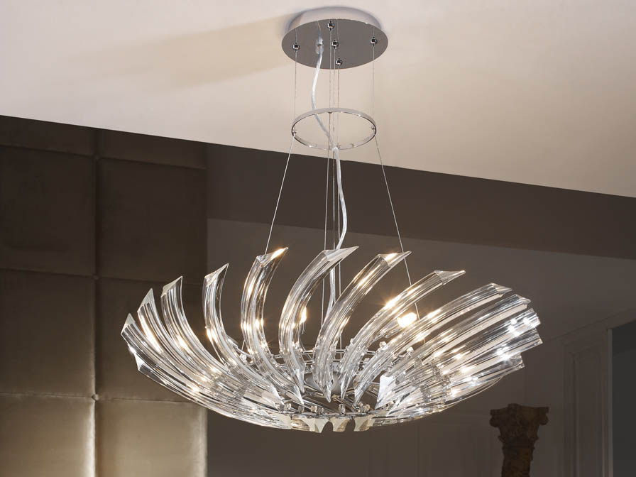 Eloise Pendant Lamp 8L bright chrome