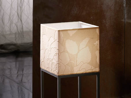 lampshade Square Papel white Relieve 18cm