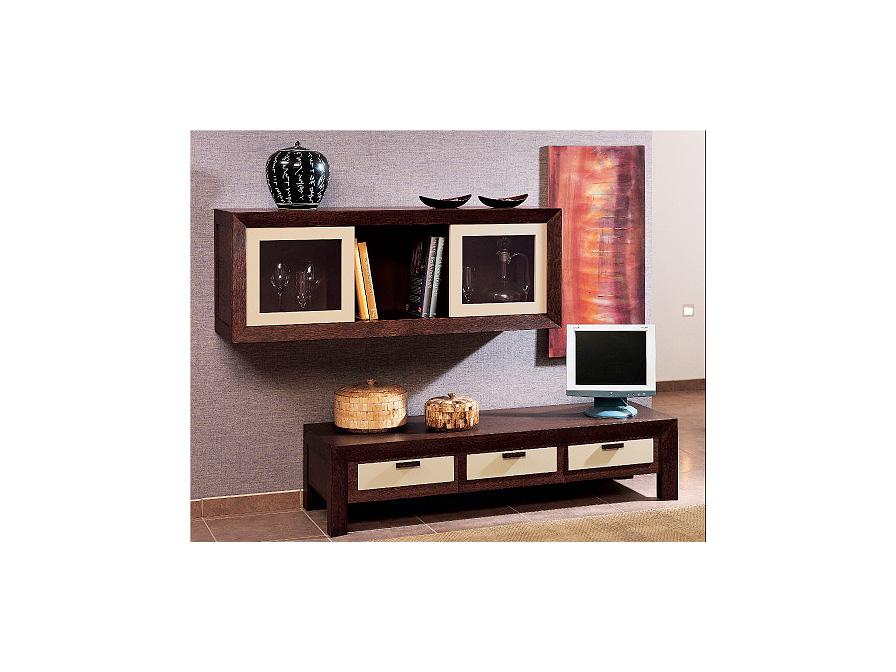 Zen Mueble Auxiliar alto Nogal/Moka