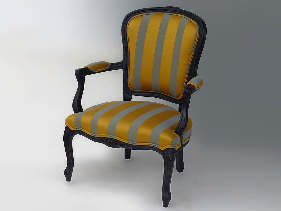 Luis XV sillón Brown Etnia