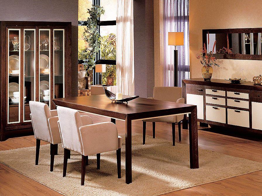 Zen table de salle à manger Nogal/Moka
