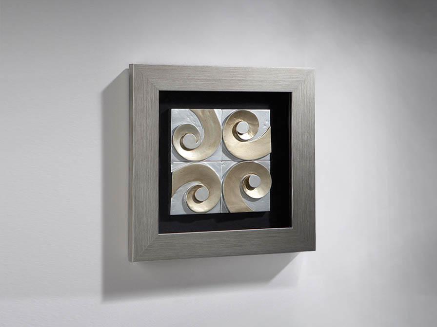 Caracolas bas-relief Framework 60cm Silver Leaf