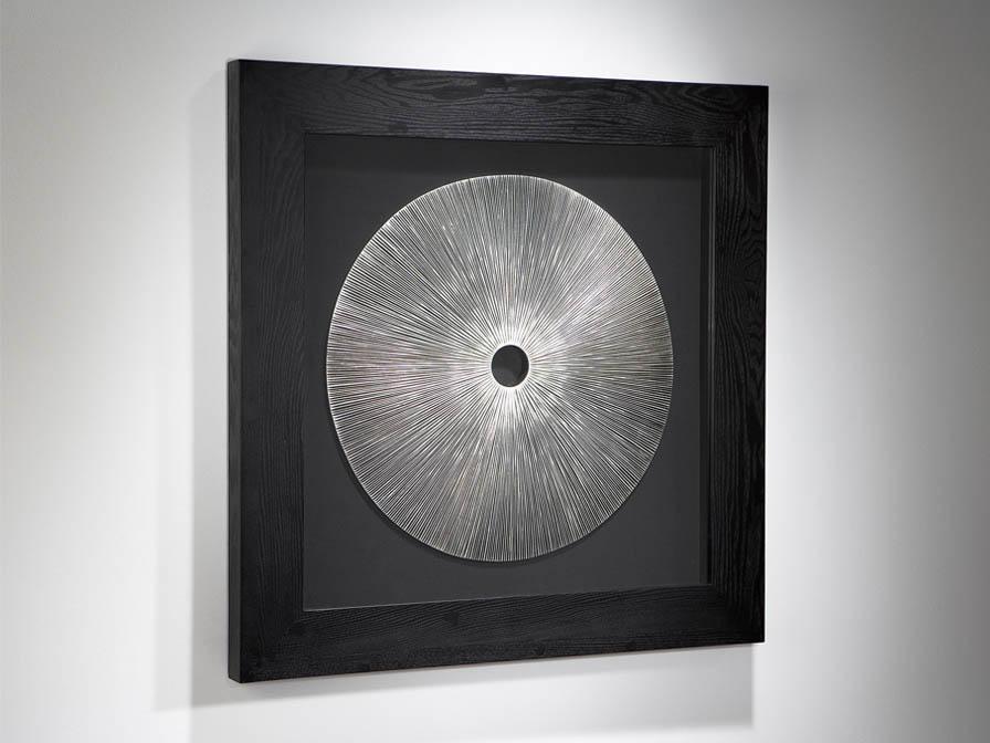 Iris bas-relief Black/Silver