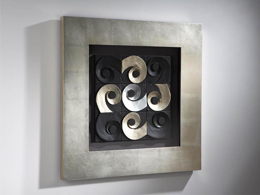 Caracolas bas-relief Framework Silver Leaf
