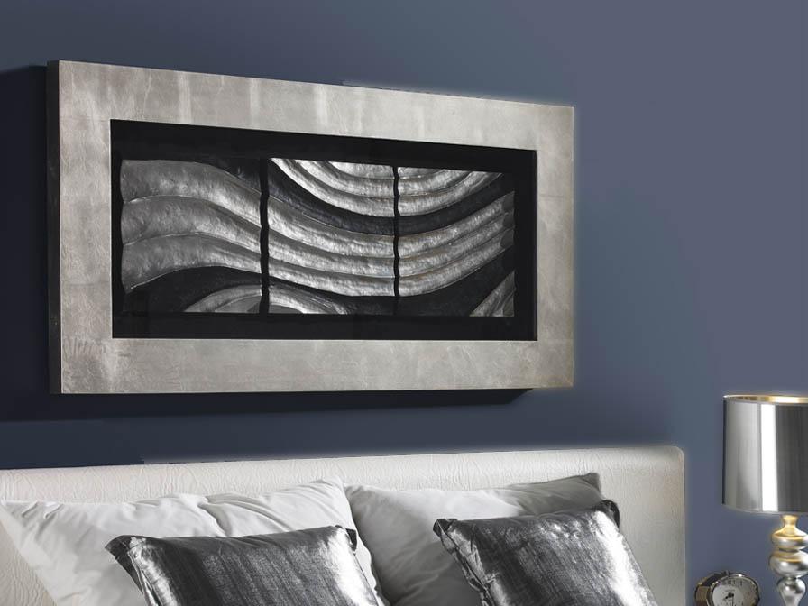 Oleaje bas-relief Cadre 120cm Feuille d´argent