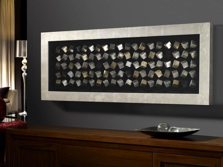 Cubic Bajorrelieve rectangular 160x60cm Plata