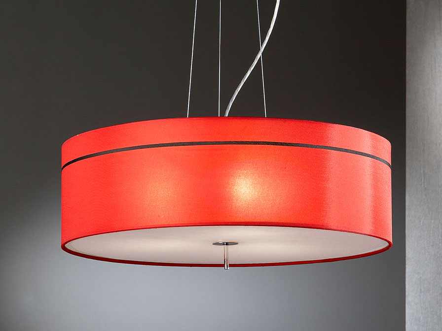 Ibis lampshade fabric Red