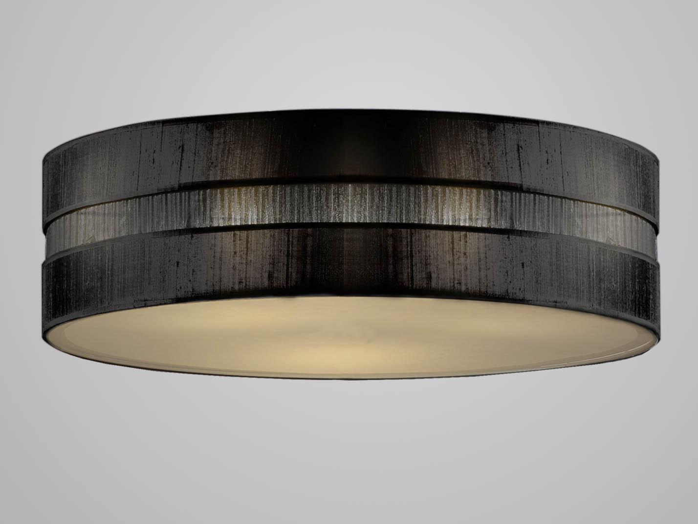 Bolano pantalla negra para Lámpara Colgante