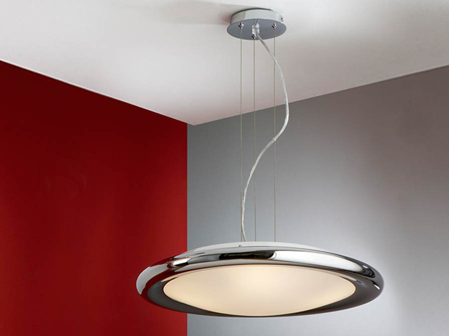 Saturno Pendant Lamp 4L bright chrome